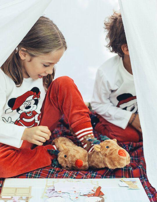 Pijama Veludo Manga Comprida e Calças Minnie Christmas