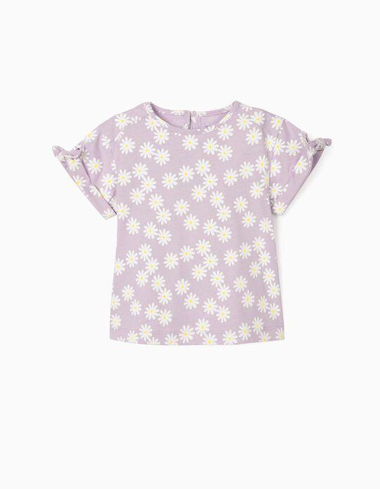 T-shirt para Bebé Menina 'Flowers', Lilás