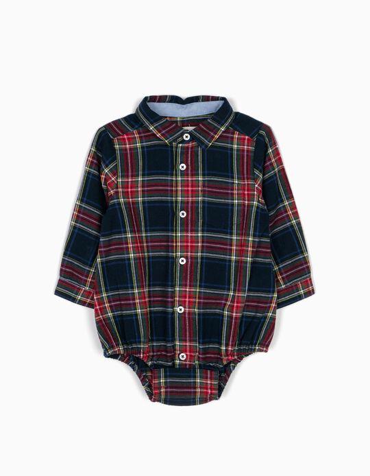 Body-Camisa Recién Nacido Ajedrez B&S