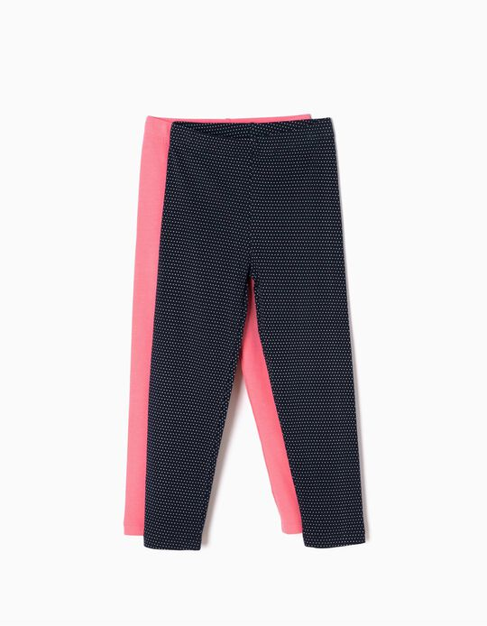 Pack 2 Leggings Rosa e Pintinhas