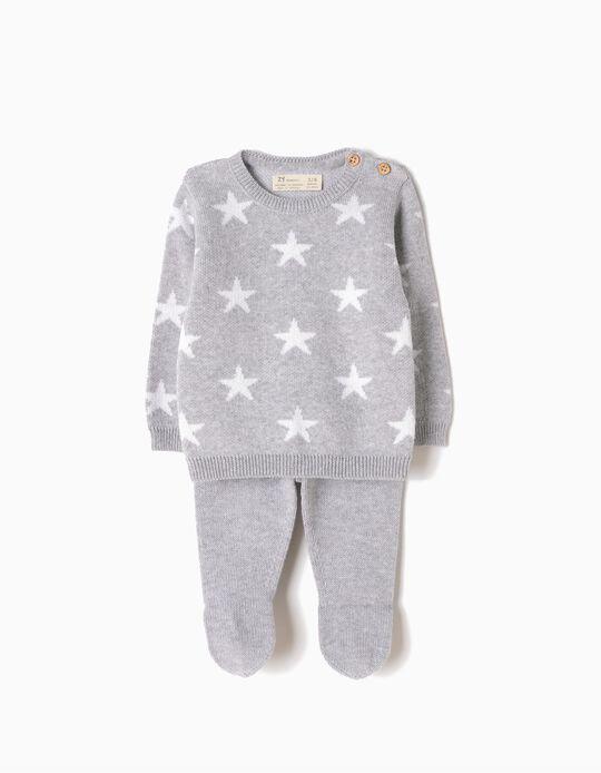 Conjunto Malha Camisola e Calças Estrelas