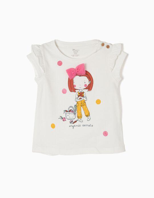 Camiseta Blanca Organic Carrots