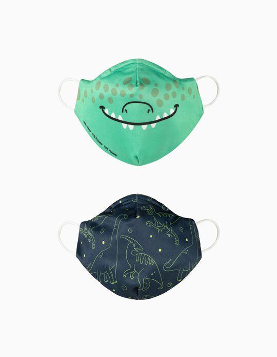 2 Máscaras Criança 'Air' - Nível 3, Dinossauros