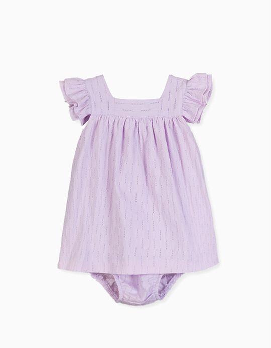 Vestido com Tapa-Fraldas para Bebé Menina LOSAN, Lilás