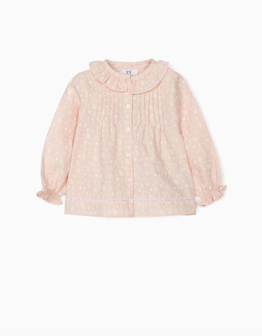 Floral Blouse for Baby Girls, Pink
