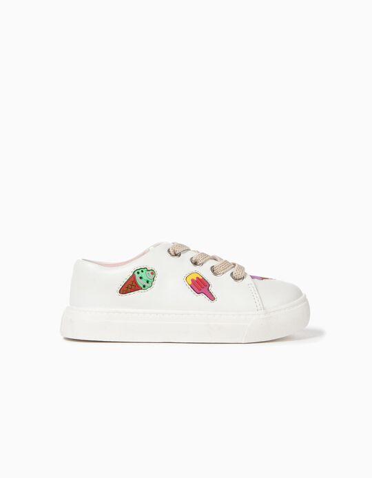 Zapatillas para Bebé Niña 'Ice Creams', Blanco