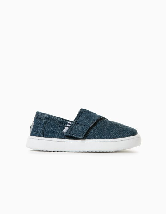 Denim Slip-On Trainers for Baby Boys, Blue