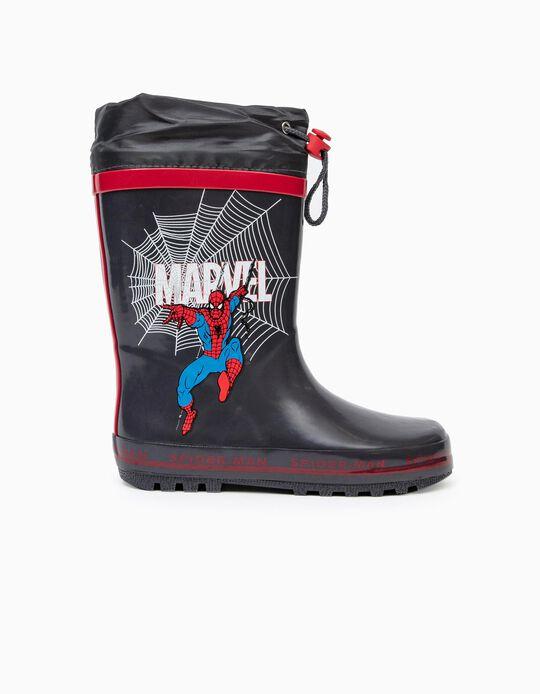 Galochas de Borracha para Menino 'Spider-Man', Cinza