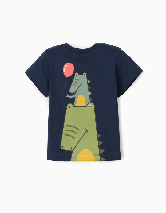 T-Shirt for Baby Boys, 'Crocs', Dark Blue