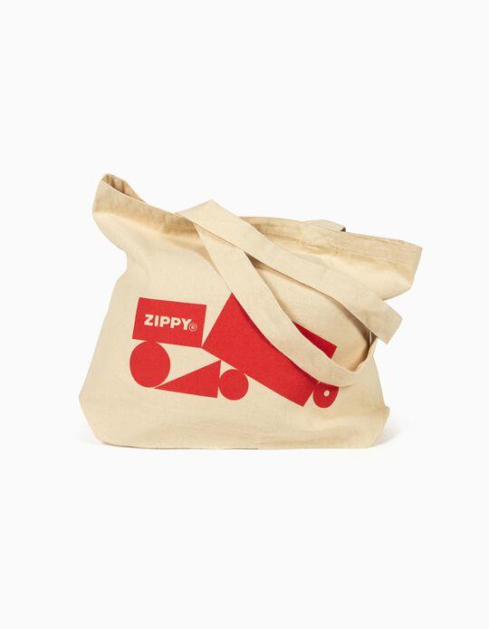 Saco de Pano 'ZY Tote Bag', Bege
