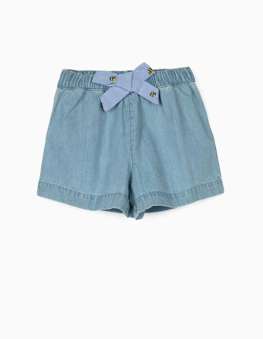 Denim Shorts for Baby Girls 'Comfort Denim', Light Blue