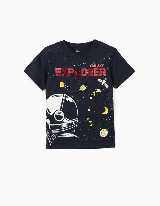 T-shirt for Boys, 'Galaxy Explorer', Dark Blue