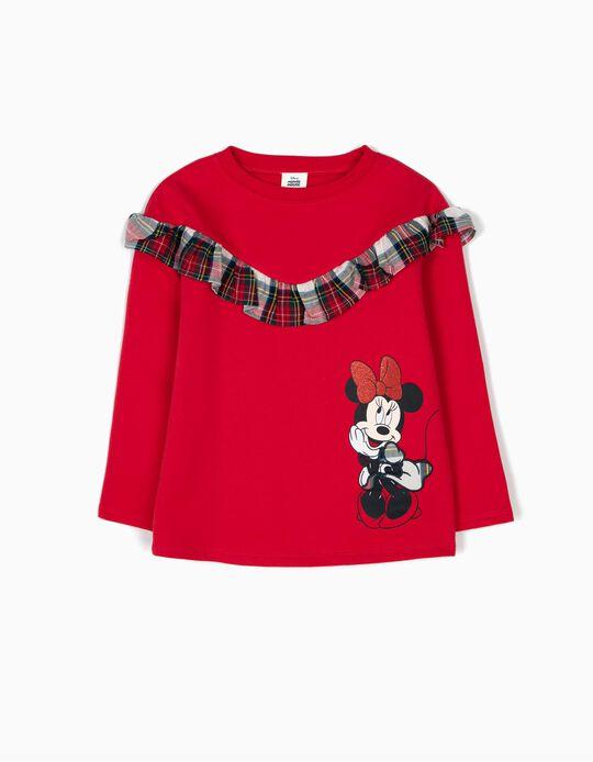 Sweatshirt Minnie Folhos e Xadrez