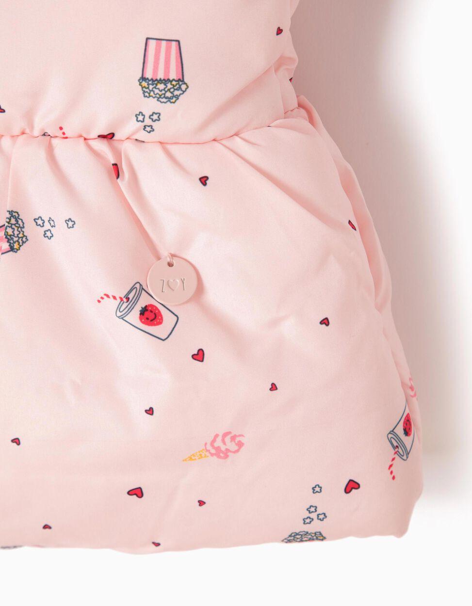 Colete Acolchoado Corações Rosa