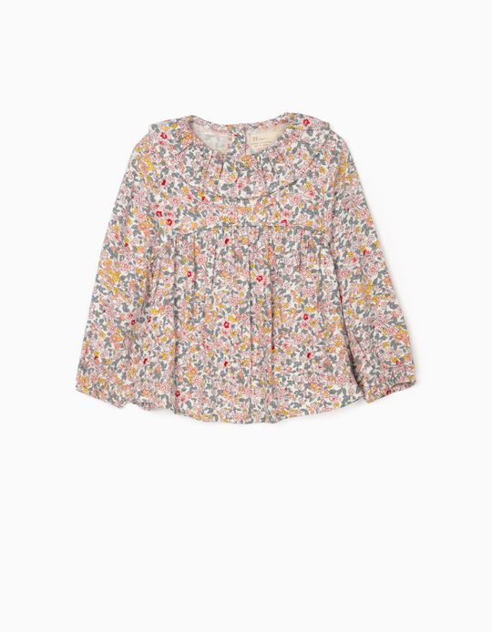 Blusa Floral para Bebé Menina, Multicolor