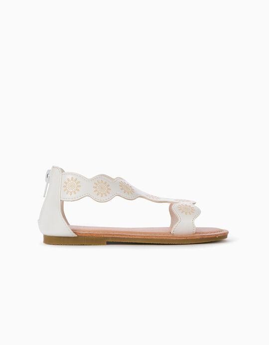 Sandals for Girls, White