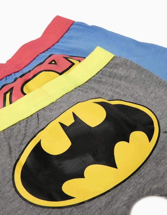 2 boxers garçon 'DC Comics', bleu/gris