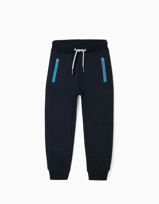 Joggers for Boys 'Let's Crush It', Dark Blue