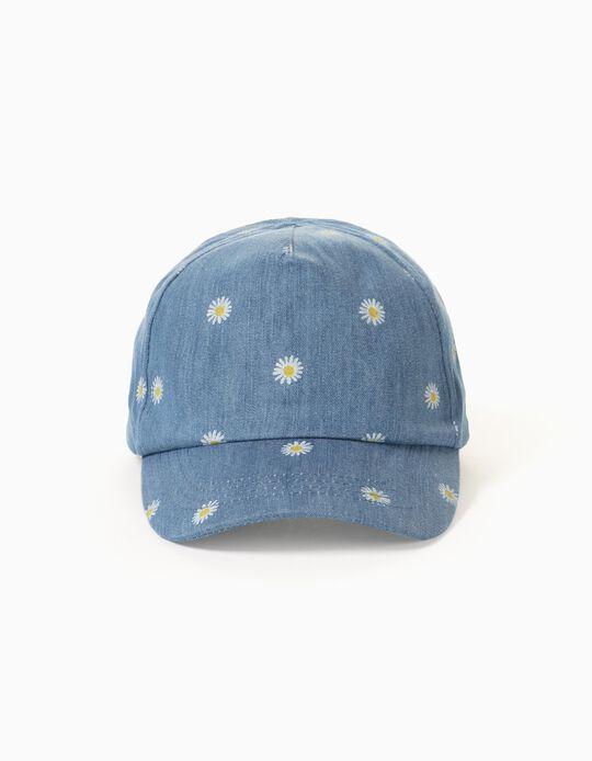 Denim Cap for Girls 'Daisy', Blue