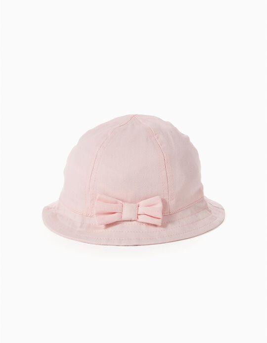 Sombrero con Lacito Rosa
