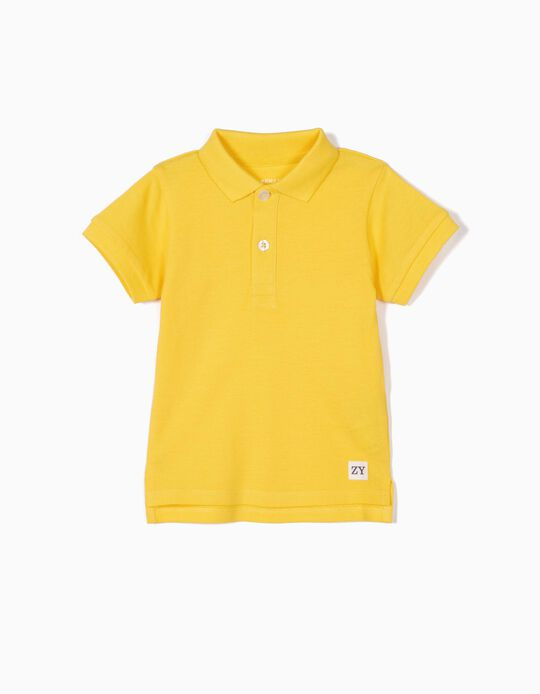 Polo Shirt for Baby Boys, Yellow