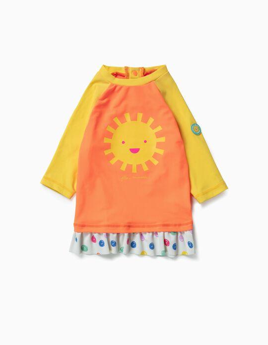 Camiseta de Baño para Bebé Niña 'Yellow Summer', Naranja