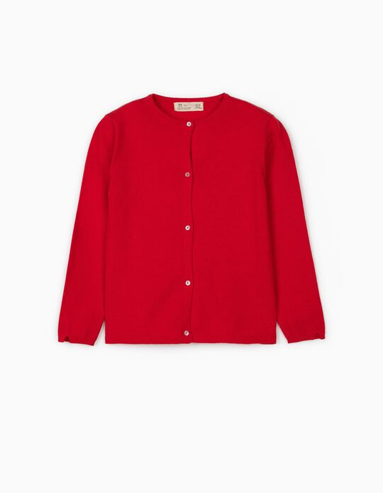 Cardigan for Girls, Red