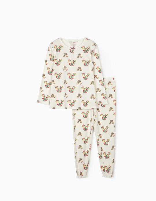 Pyjamas for Girls, 'Minnie Mouse', White