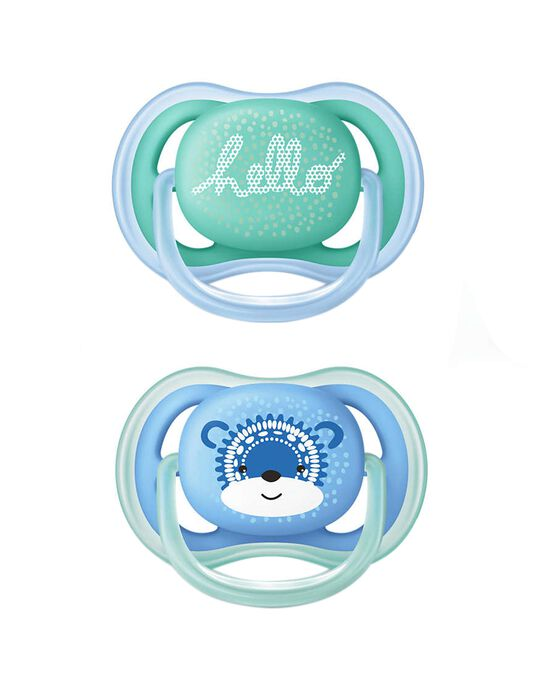 Chupeta Ultra Air 6-18 Silicone Philips/Avent 2Un.