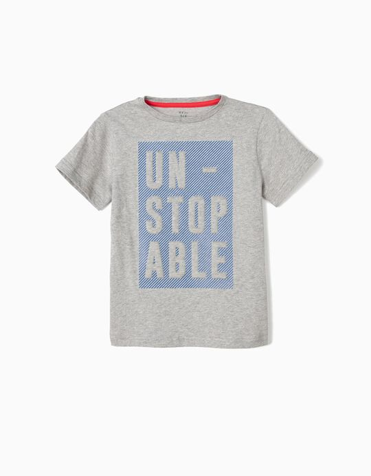 Camiseta para Niño 'Unstoppable', Gris