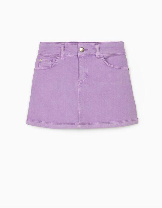 Twill Skirt for Girls 'Cosmic World', Lilac