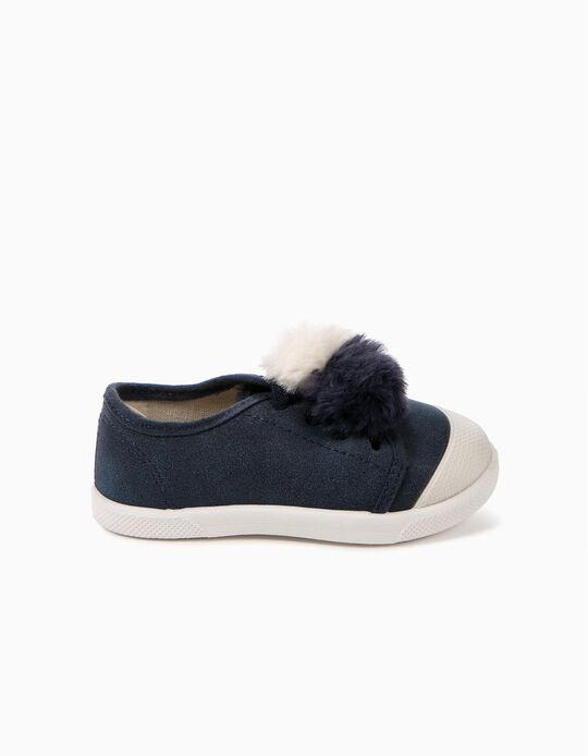 Zapatillas Bebé Niña ZY Smell Borlas Azules
