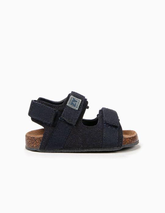 Sandalias para Bebé Niño con Cierre Autoadherente, Azul Oscuro