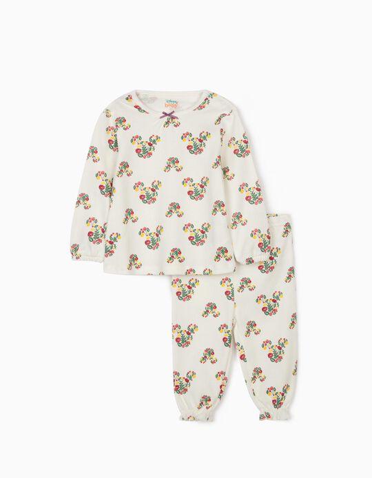 Pyjama bébé fille 'Minnie', blanc