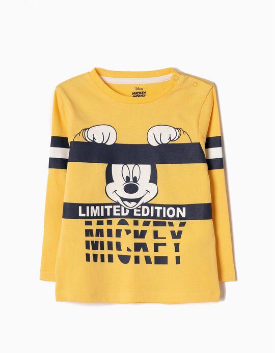 T-shirt Manga Comprida Mickey Limited Edition Amarela