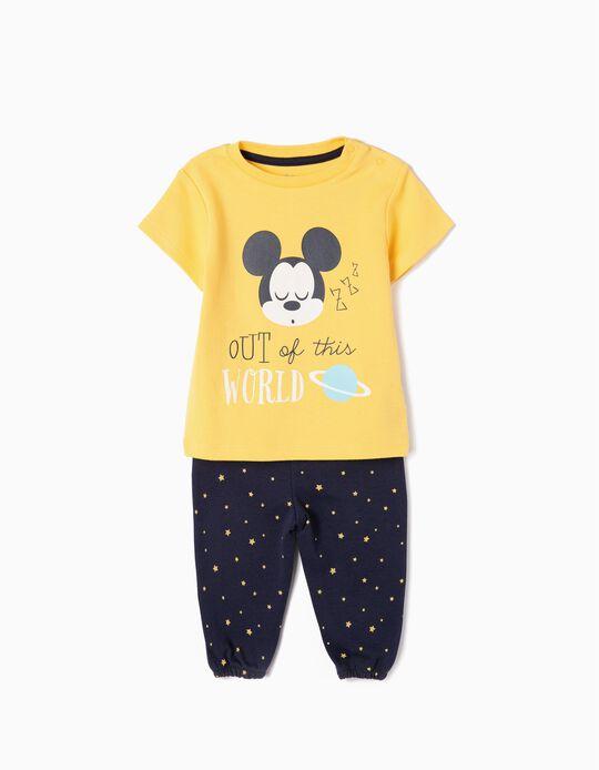 Pijama para Bebé Niño 'Mickey Out of This World', Amarillo y Azul