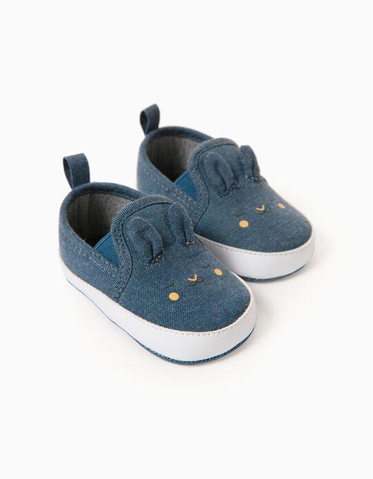 Zapatillas Slip-On para Recién Nacido 'Little Ears', Azul