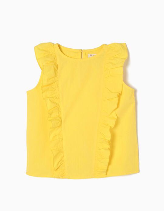 Blusa Amarela com Folhos
