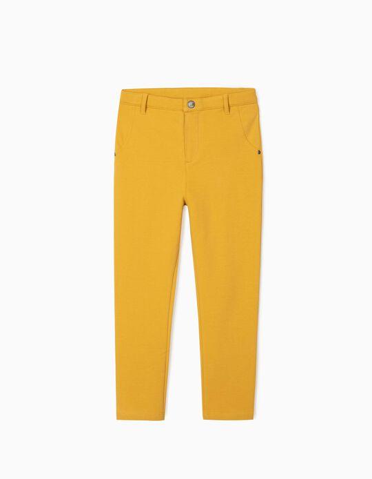Calças Cardadas para Menina, Amarelo