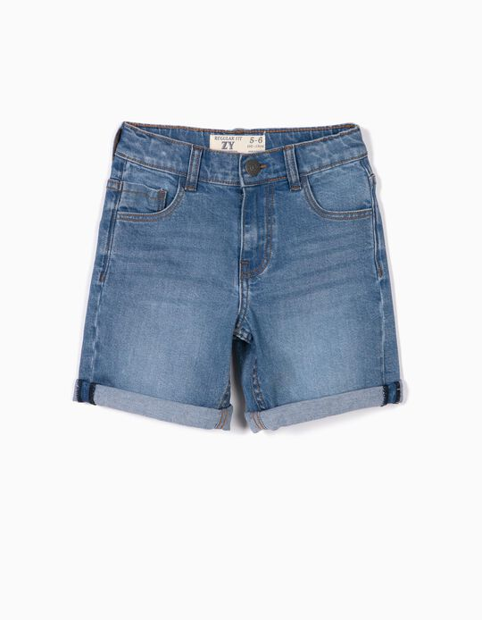 Denim Shorts for Boy, Light Blue