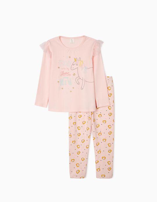 Pyjamas for Girls, 'Unicorn', Pink