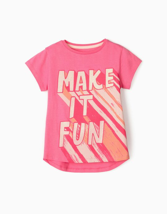 Camiseta para Niña 'Make It Fun', Rosa