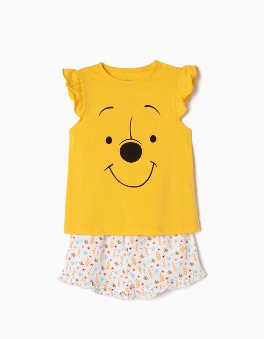 Pijama para Bebé Niña 'Winnie The Pooh', Amarillo y Blanco