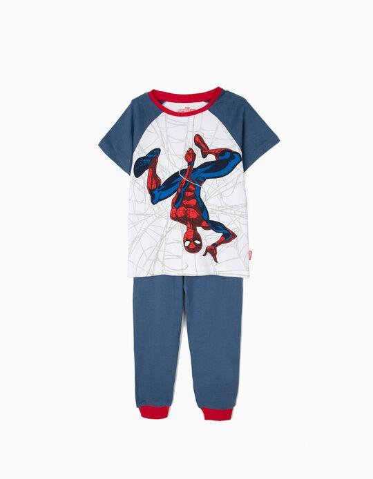Pijama para Niño 'Spider-Man' Manga Corta, Azul y Blanco