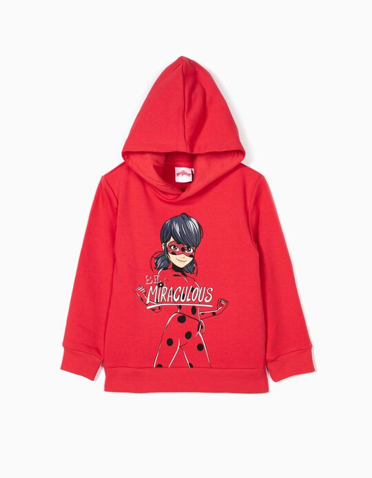 Sweatshirt para Menina 'Miraculous Ladybug' com Capuz, Vermelho