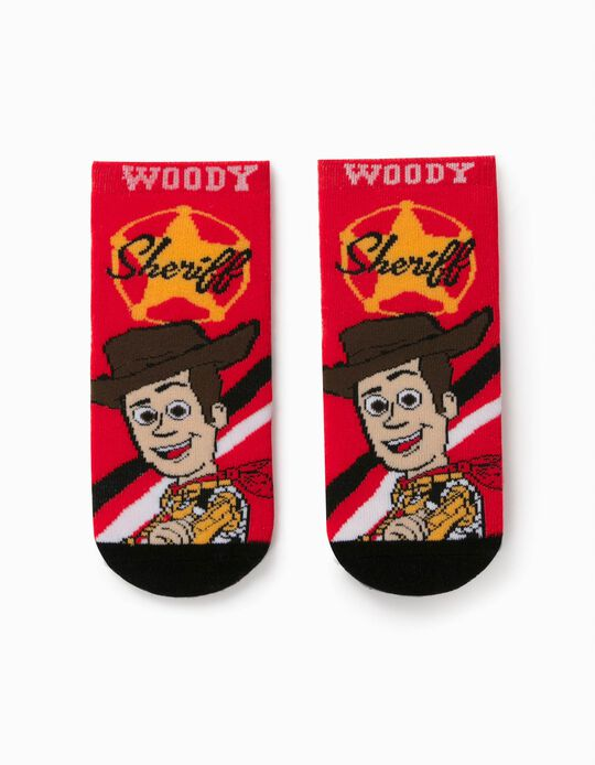 Non-Slip Socks for Boys, 'Toy Story 4', Red