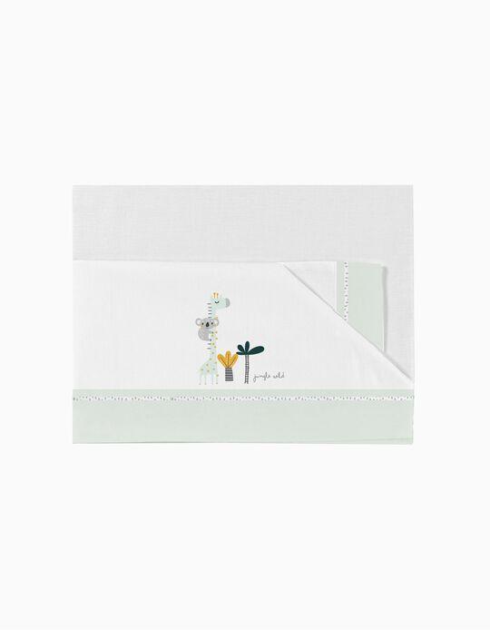 Cot Sheet Set 60X120 cm Koala Green 3 Pcs. Bimbichic