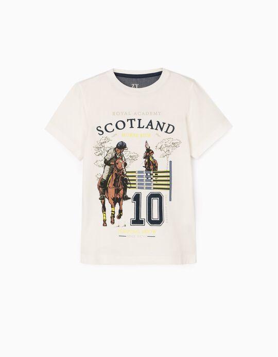 T-Shirt for Boys 'Scotland', White