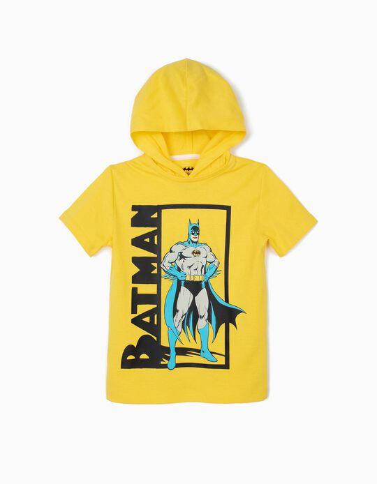 T-shirt para Menino 'Batman' com Capuz, Amarelo