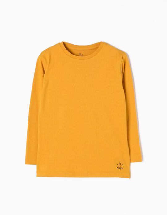 Camiseta Manga Larga Amarilla